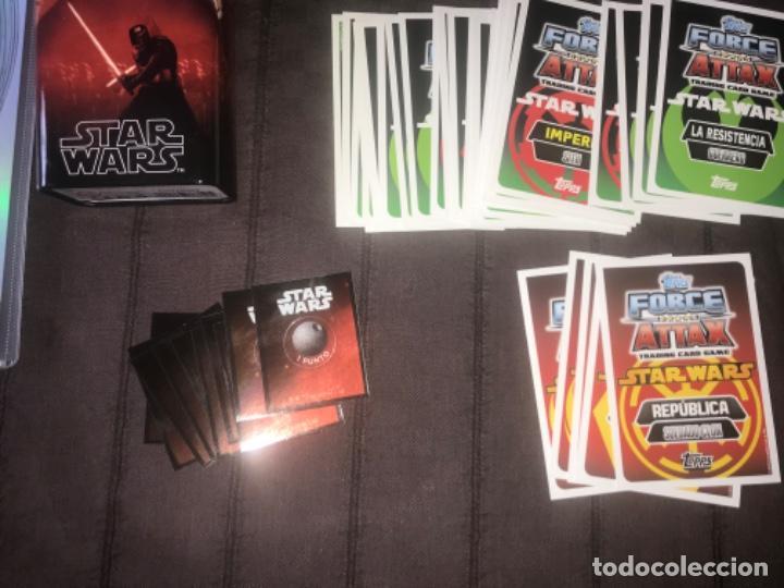 Trading Cards: 310 cromos y fichas de varias colecciones con un archivador y una lata STAR WARS ... ZKR - Foto 5 - 200887575