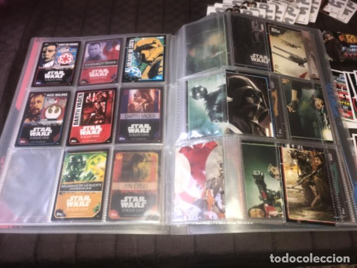 Trading Cards: 310 cromos y fichas de varias colecciones con un archivador y una lata STAR WARS ... ZKR - Foto 9 - 200887575