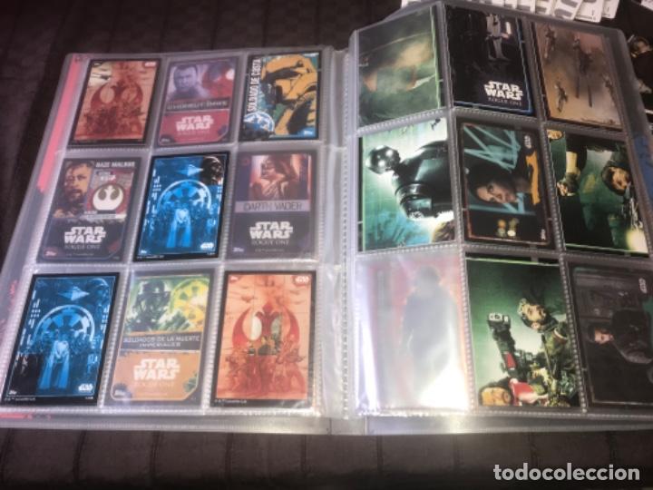 Trading Cards: 310 cromos y fichas de varias colecciones con un archivador y una lata STAR WARS ... ZKR - Foto 10 - 200887575