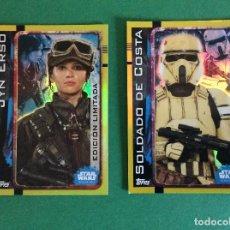 Trading Cards: LOTE DE 2 CROMOS EDICÍÓN LÍMÍTADA DE STARS WARS ROGUE ONE CARTA ESPECIALES . Lote 201298408