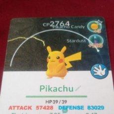 Trading Cards: CARTA POKÉMON GO. PIKACHU. Lote 202397866