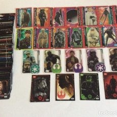 Trading Cards: STAR WARS ROGUE ONE LOTE DE 138 TRADING CARDS - CROMOS - LEER DETALLES. Lote 203931672