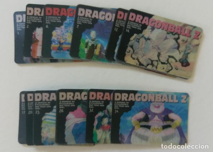DRAGONBALL Z CHANGINCARDS JAPONESAS LOTE DE 18 TAMBIÉN SUELTAS (Coleccionismo - Cromos y Álbumes - Trading Cards)