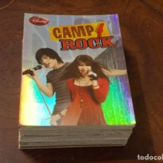 Trading Cards: LOTE 60 TARJETAS CAMP ROCK, DISNEY, PANINI MADE IN ITALY, LEER NÚMEROS. Lote 205036817
