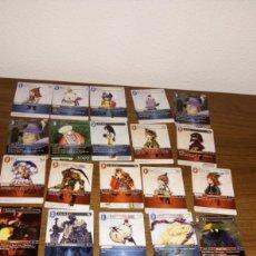 Trading Cards: BR LOTE 25 TRANDING CARDS FINAL FANTASY EN FRANCÉS FRANCIA INEDITO EN TC LOTE 1PQTE Z. Lote 206585480