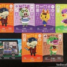 Trading Cards: LOTE TARJETAS AMIIBO ANIMAL CROSSING. Lote 206587302