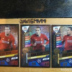 Trading Cards: CHAMPIONS LEAGUE 2019 2020 TOPPS 101 LIMITADA LIMITED VAN DIJK ORO , PLATA Y BRONZE CARDS CROMO. Lote 206783508