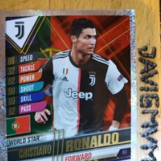 Trading Cards: CHAMPIONS LEAGUE 2019 2020 TOPPS 101 JUVENTUS RONALDO W 3 CARDS CROMO. Lote 206783691