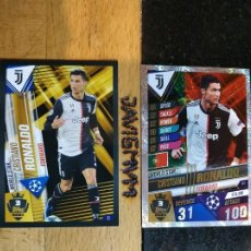 Trading Cards: CHAMPIONS LEAGUE 2019 2020 TOPPS 101 JUVENTUS RONALDO S 3 Y W 3 CARDS CROMO. Lote 206783712