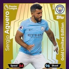 Trading Cards: CARD TOPPS MATCH ATTAX SERGIO AGUERO GOLD LIMITED EDITION MANCHESTER CITY. Lote 206842906