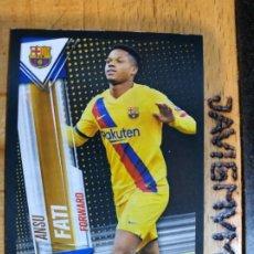 Trading Cards: CHAMPIONS LEAGUE 2019 2020 TOPPS 101 ANSU FATI S33 BARCELONA CROMO. Lote 207230643