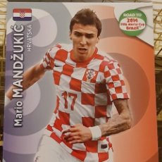 Trading Cards: CARD PANINI ADRENALYN XL ROAD TO 2014 FIFA WORLD CUP MARIO MANDZUKIC CROACIA. Lote 207340196