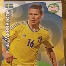 Trading Cards: CARD PANINI ADRENALYN XL ROAD TO 2014 FIFA WORLD CUP PONTUS WERNBLOOM SUECIA. Lote 207340948
