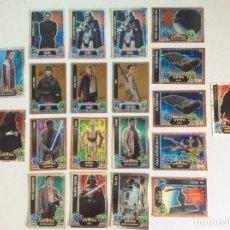 Trading Cards: STARS WARS -- FORCE ATTAX ( 19 + 1 ) TRADING CARDS 19 ESPJO Y BRILLANTE-Y UNA EDICIÓN LIMITADA. Lote 209290860