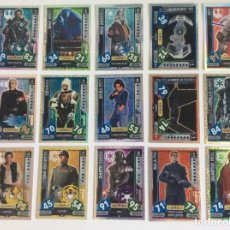 Trading Cards: STARS WARS -- FORCE ATTAX ( 15 ) TRADING CARDS ESPEJO Y BRILLANTE. Lote 209291110