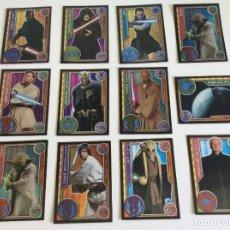 Trading Cards: STARS WARS - ( 12 ) TRADING CARDS - EL CAMINO DE LOS JEDI - ESPEJO. Lote 209292215