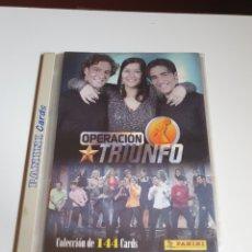Trading Cards: OPERACIÓN TRIUNFO, PANINI CARDS, ALBUM CON 85 CARDS, VER FOTOS.. Lote 211657288