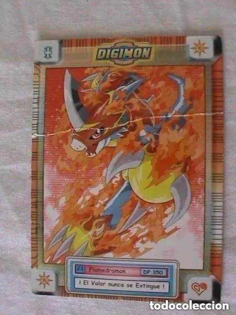 TRADING CARD DIGIMON - FLAMEDRAMON (Coleccionismo - Cromos y Álbumes - Trading Cards)