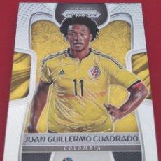 Trading Cards: CARD PANINI PRIZM 2018 JUAN GUILLERMO CUADRADO COLOMBIA. Lote 221724057