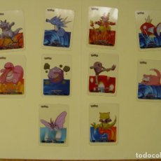 Trading Cards: 10 LAMINCARDS (POKÉMON, 2005) EDIBAS. Lote 213192780