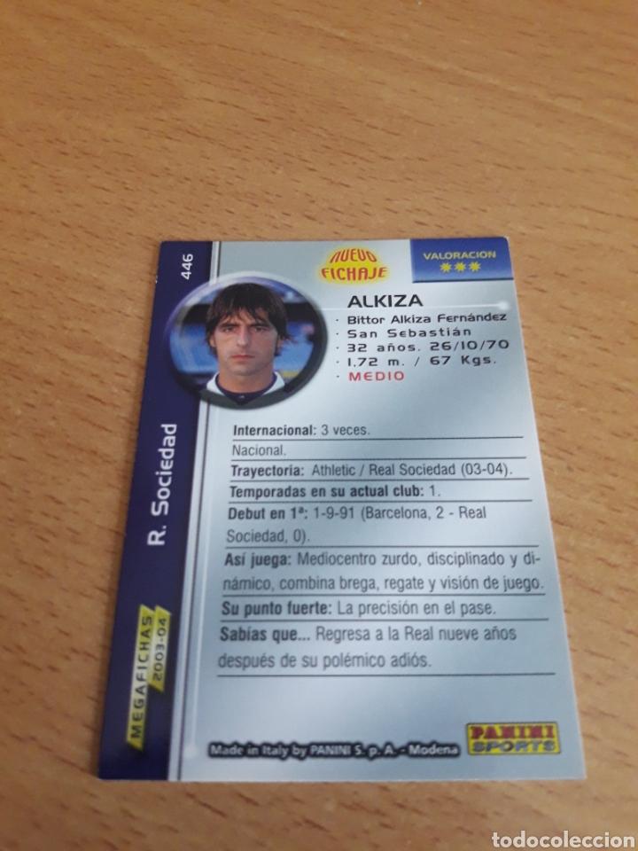 Trading Cards: Cromo card fichaje alkiza megacracks 03 04 - Foto 2 - 213453696
