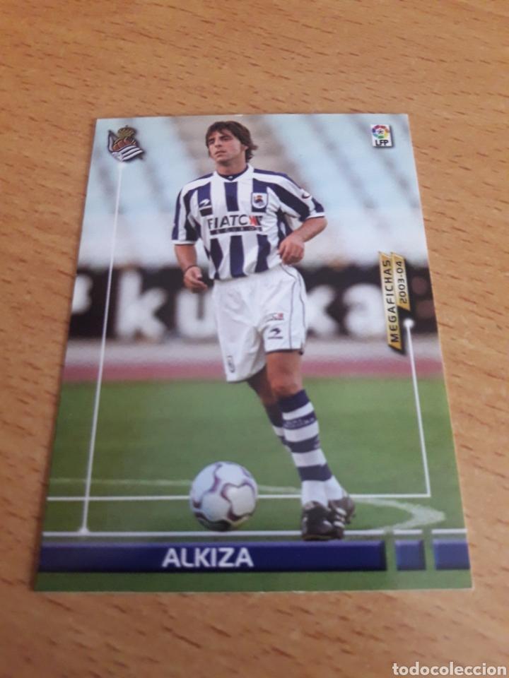 CROMO CARD FICHAJE ALKIZA MEGACRACKS 03 04 (Coleccionismo - Cromos y Álbumes - Trading Cards)