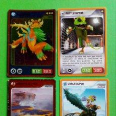 Trading Cards: CARTAS INVIZIMALS LOTE 4 CARTAS,INVIZIMALS CARDS LOT 4 CARDS. PANINI. Lote 214503996