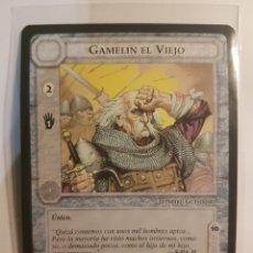 Trading Cards: CARTA SEÑOR ANILLOS SATM - GAMELIN EL VIEJO - HOMBRE GUERRERO - 1995 - BORDE NEGRO - TOLKIEN. Lote 215838616