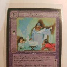 Trading Cards: CARTA SEÑOR ANILLOS SATM - PALLANDO - MAGO - LOS MAGOS LIMITADA1995 - BORDE NEGRO - TOLKIEN. Lote 215841978