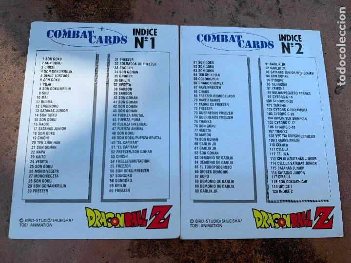 Trading Cards: Excepcional lote de DRAGON BALL Z COMBAT-CARDS, casi completa a falta de 3 cromos. - Foto 2 - 217610092