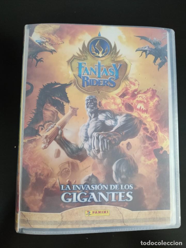ÁLBUM FANTASY RIDERS LA INVASIÓN DE LOS GIGANTES 194 CROMOS + 8 EDICIÓN LIMITADA + 46 REPES (Coleccionismo - Cromos y Álbumes - Trading Cards)