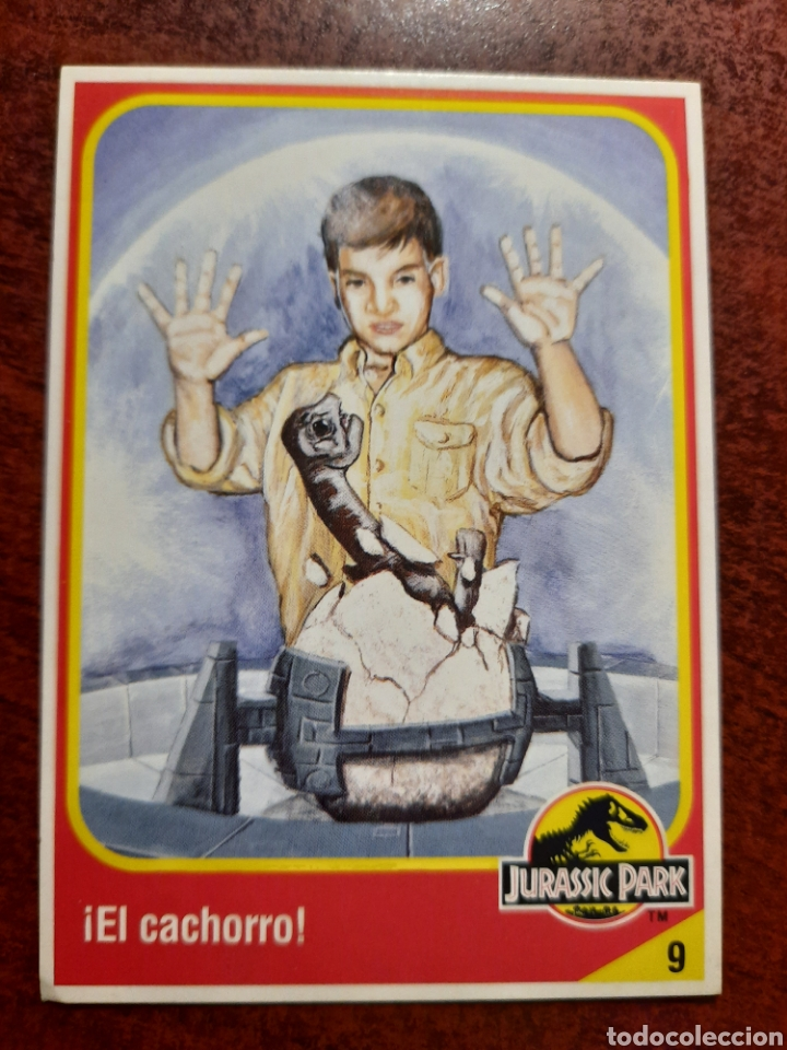 JURASSIC PARK Nº 9 COLECCION KENNER 1993 (Coleccionismo - Cromos y Álbumes - Trading Cards)