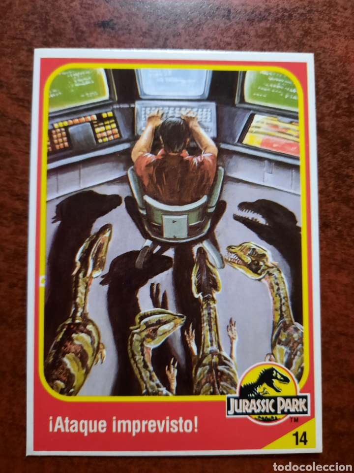 JURASSIC PARK Nº 14 COLECCION KENNER 1993 (Coleccionismo - Cromos y Álbumes - Trading Cards)