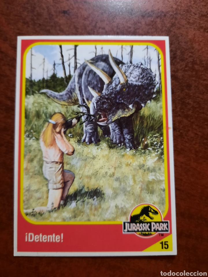 JURASSIC PARK Nº 15 COLECCION KENNER 1993 (Coleccionismo - Cromos y Álbumes - Trading Cards)