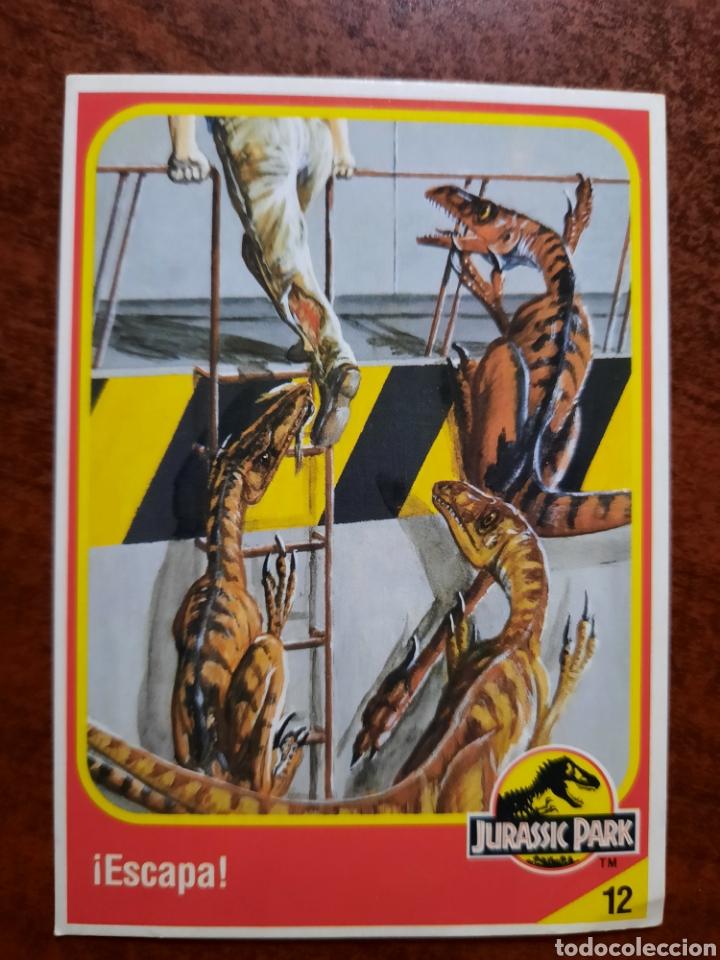 JURASSIC PARK Nº 12 COLECCION KENNER 1993 (Coleccionismo - Cromos y Álbumes - Trading Cards)