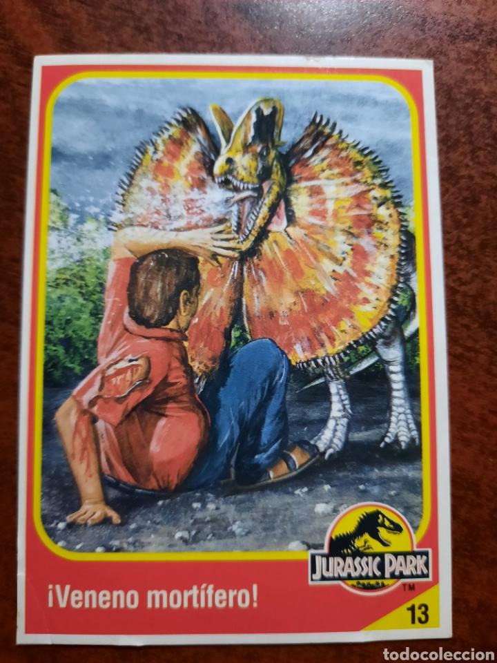 JURASSIC PARK Nº 13 COLECCION KENNER 1993 (Coleccionismo - Cromos y Álbumes - Trading Cards)