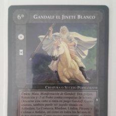 Trading Cards: CARTA SEÑOR ANILLOS SATM GANDALF EL JINETE BLANCO EL OJO SIN PÁRPADO 1997 BORDE NEGRO. Lote 218530575