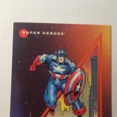 Trading Cards: TRADING CARD - MARVEL UNIVERSE- CAPTAIN AMERICA 37 - PROTOTYPE - CARTA PROMOCIONAL DE 1992 IMPEL. Lote 218547372