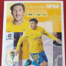 Trading Cards: CROMO LIGA ESTE PANINI 2020 2021 20-21 LUIS ALFONSO ESPINO CADIZ. Lote 218905640
