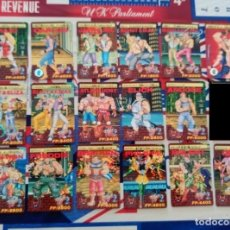 Trading Cards: FINAL FIGHT 2 STREET FIGHTER CARDDASS 17 TRADING CARDS. Lote 218940223