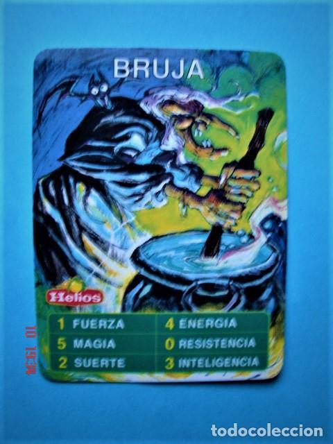CARTA CROMO BRUJA DEL JUEGO HELIOS MÁGICO (Coleccionismo - Cromos y Álbumes - Trading Cards)