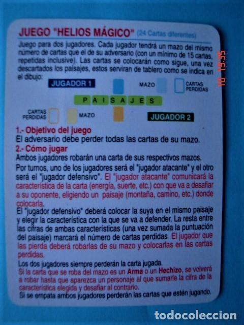 Trading Cards: CARTA CROMO DRAGÓN DEL JUEGO HELIOS MÁGICO - Foto 2 - 220690526