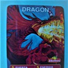 Trading Cards: CARTA CROMO DRAGÓN DEL JUEGO HELIOS MÁGICO. Lote 220690526
