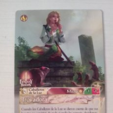 Trading Cards: TROVADORA - N° 289 - FANTASY RIDERS - PANINI 2019. Lote 221607257
