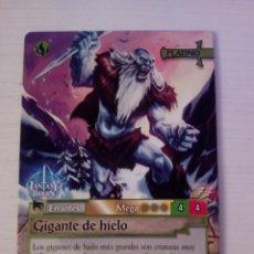 Trading Cards: GIGANTE DE HIELO - N° 345 - FANTASY RIDERS - PANINI 2019. Lote 221608405