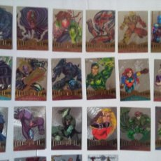Trading Cards: LOTE 22 MARVEL METAL FLASHER TRADING CARDS ORIGINALES USA 1995. Lote 221653415