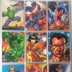 Trading Cards: LOTE 79 MARVEL VS DC/ DC VS MARVEL TRADING CARDS ORIGINALES USA 1995-MUY DIFICILES. Lote 221665161