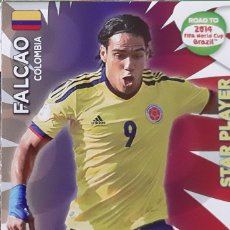Trading Cards: CARD PANINI ADRENALYN XL WORLD CUP 2014 FALCAO STAR PLAYER COLOMBIA. Lote 222229492