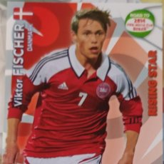Trading Cards: CARD PANINI ADRENALYN XL WORLD CUP 2014 VIKTOR FISCHER RISING STAR DINAMARCA. Lote 222229571
