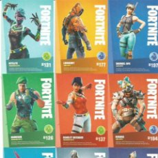Trading Cards: FORTNITE TRADING CARDS N 126-127-131-137-177-192-193-194-197. Lote 222337266
